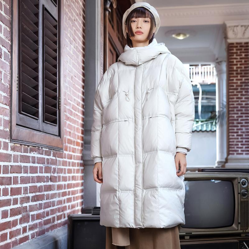 【预售到手449】女子羽绒服 21年新款 80%含绒量保暖百搭长款羽绒服879428190017
