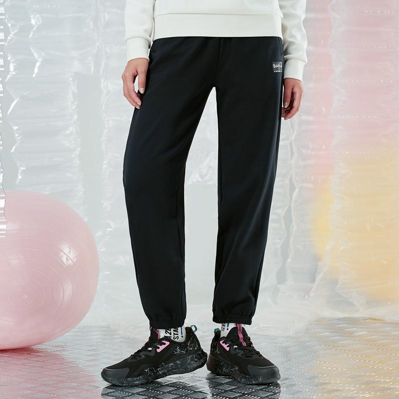 【预售到手79】女子针织长裤 21年新款 运动简约加绒女束脚裤879428630045